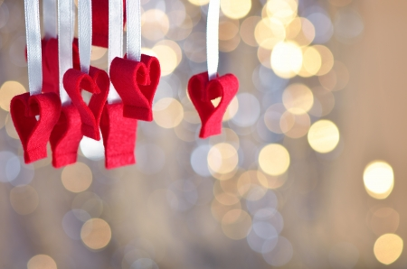 Festive background with hearts on the day of lovers Stock Photo - 17108866