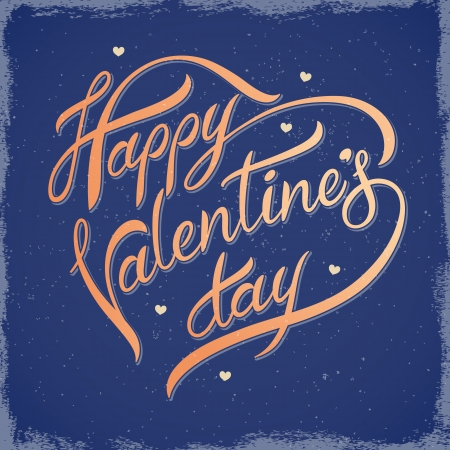 Decorative lettering on Valentine Vector