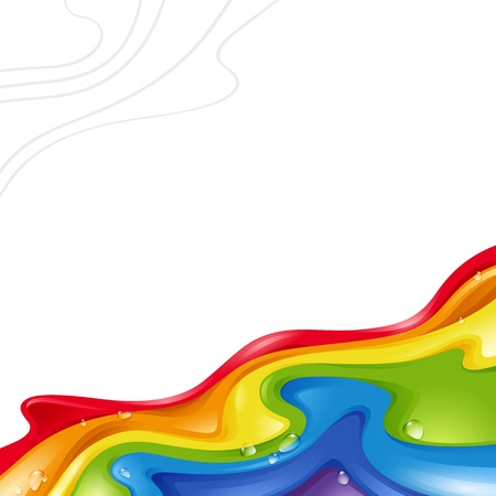 abstract background with a rainbow on a white background  Illustration for design illustration