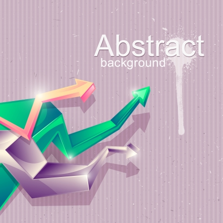 Background for design with abstract geometric shapes in form arrows Stock Vector - 18143361