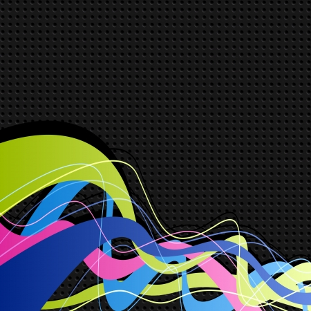 Abstract colored waves  Vector background for design Stock Vector - 18282874