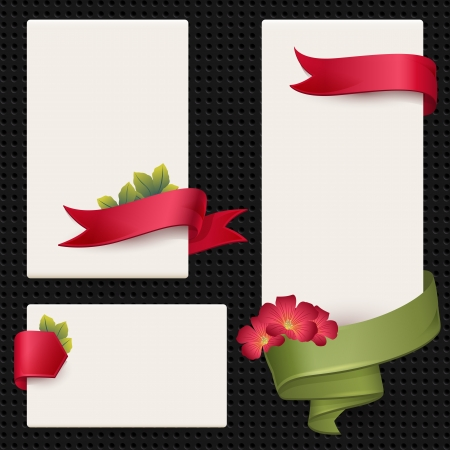 Set of vector elements for information and advertising  Banners, signs, stickers