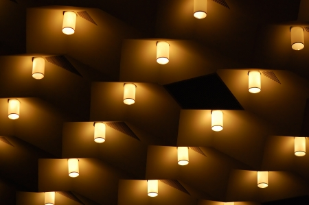 Abstract background  The pattern of lights on the ceiling photo