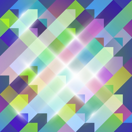 Multicolored geometric abstraction Stock Vector - 18839243