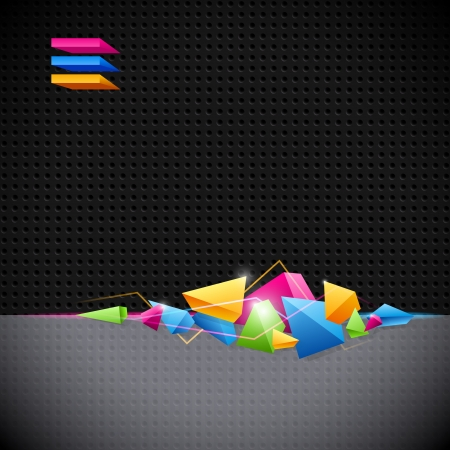 background design: Background for design with colored geometric abstraction of the triangles