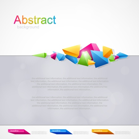 Background for design with colored geometric abstraction Stock Vector - 18839246