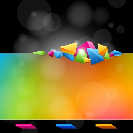 Abstract background for design with bright colors and abstract forms Stock Vector - 18839138