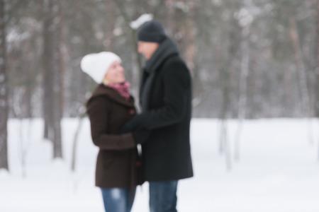 photo story: Romantic meeting. love story. Photo in defocusing