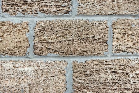 materiales de construccion: La construcción de la pared de la coquina. La textura de los materiales naturales