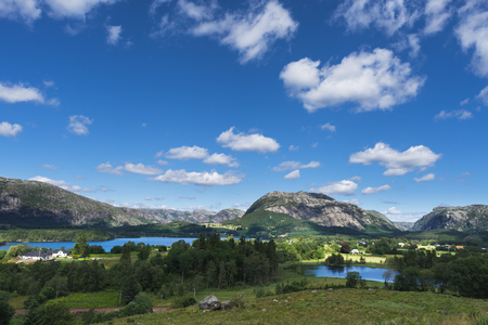 Landscape of Norway. Sunny summer day Banque d'images