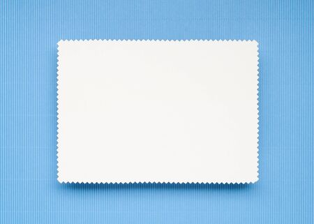 Note Paper on light blue background Stok Fotoğraf