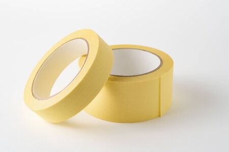 Two painter's (masking) tapes of different widths on a white background. Painting Tool
