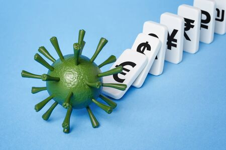 Coronavirus kills the economy. Covid 19 pandemic triggers global financial crisis