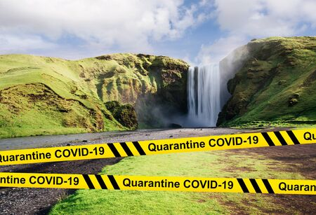 A world without tourism and travel. COVID-19 quarantine in Iceland. Collapse of the tourism industry