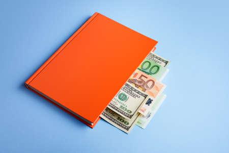 Path towards financial freedom. Financial Literacy Book Archivio Fotografico - 152212625