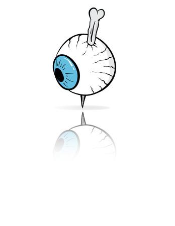 stabbed: Un ojo apu�al� con un hueso.