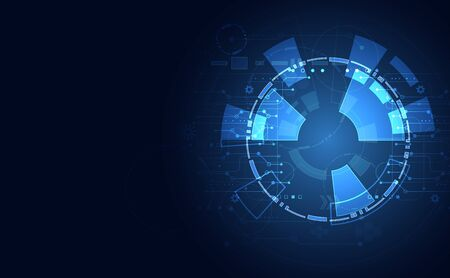 abstract technology ui futuristic concept hud interface hologram elements of digital data chart 向量圖像