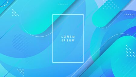 Colorful landing page abstract geometric shape and dynamic background on gradient colour. 向量圖像