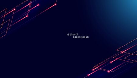 Abstract background polygonal pattern luxury blue dark with red line background 向量圖像