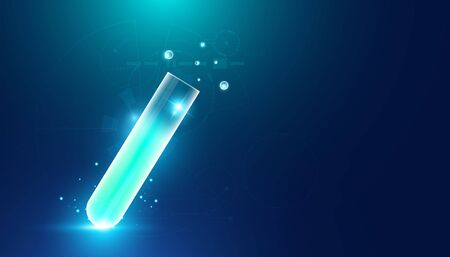 Abstract health medical science consist Glass tube concept The invention of medicines by medical innovations And science.