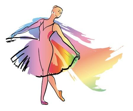 Taniec baleriny dziewczyna balet sylwetki wektor eps