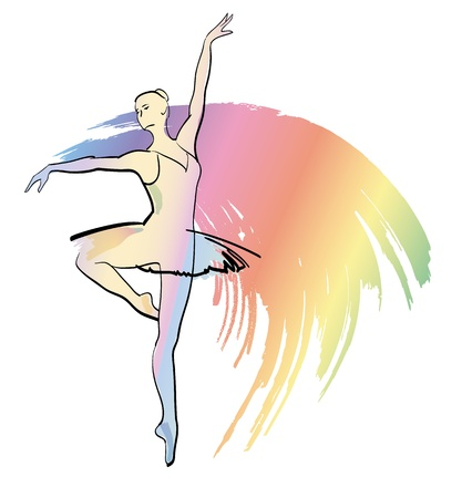 Dance ballerina girl ballet silhouettes vector eps  Vector