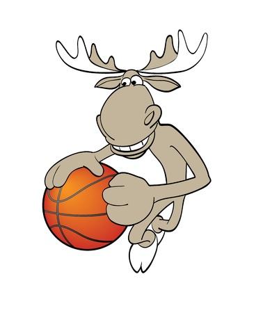 ムースのバスケット ボールのベクトル イラスト