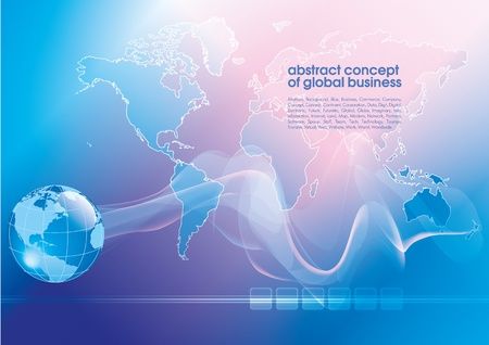 Best abstract blue business background with place for text.  Concept of global business Иллюстрация