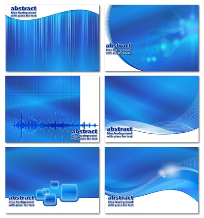 Abstract blue industrial   business backgrounds set with place for text Vector