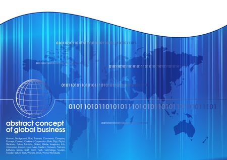 Best abstract blue business background with place for text  Concept of global business Stock Vector - 13428280