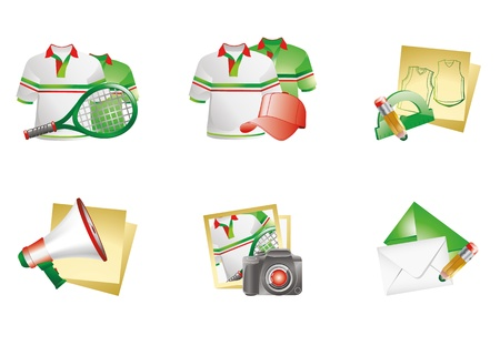 protractor: Vector illustration - site icon set