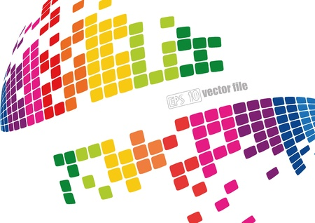 Abstract bright Background  Illustration