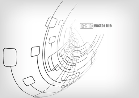 Abstract vector background lines circuits Stock Vector - 13819201