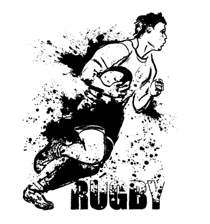 pelota rugby: Rugby grunge