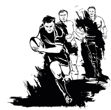 Grunge silueta de rugby
