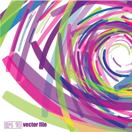 abstract design: Full-color abstract scribble background vector