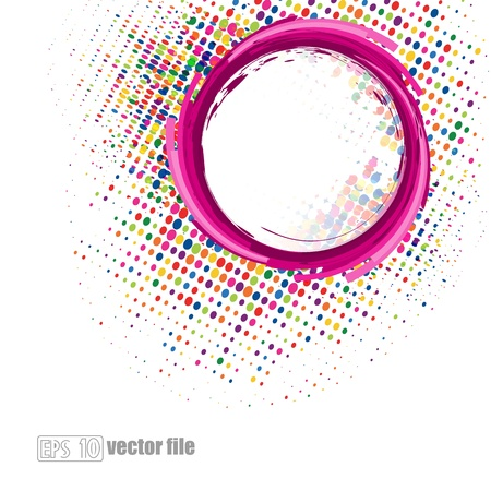 Abstract swirl Halftone background Illustration