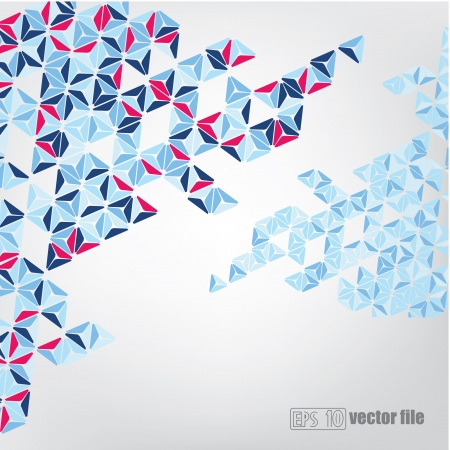 Abstract geometric mosaic triangle pyramid background Vector