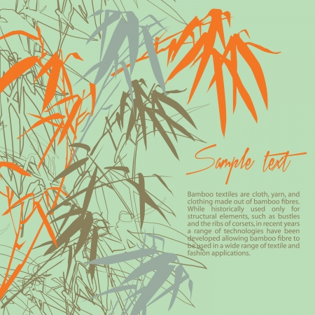 Bamboo. Floral background with copy space, vector illustration Vector