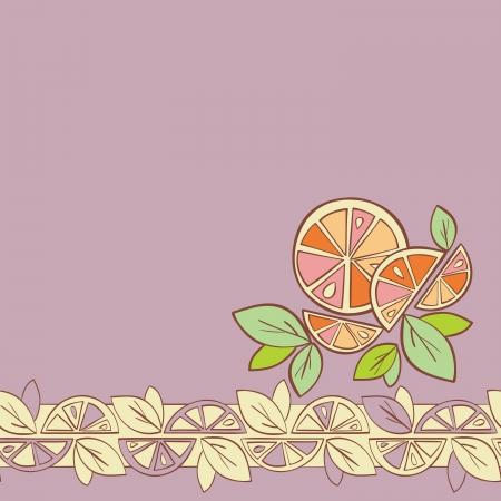 orange citrus bright Seamless pattern background Stock Vector - 14607131