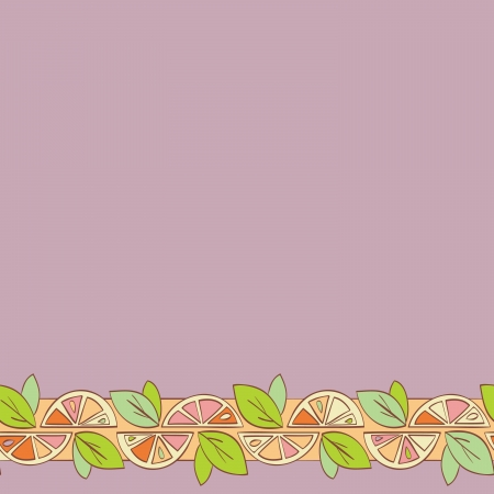 orange citrus bright Seamless pattern background Vector