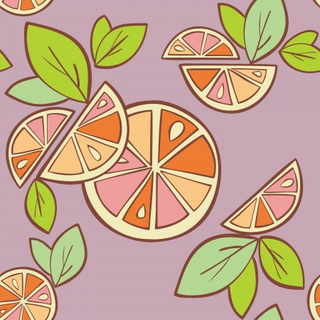 orange citrus bright Seamless pattern background Stock Vector - 14607116