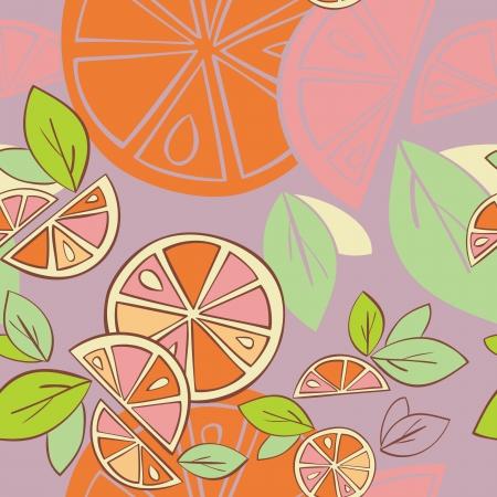orange citrus bright Seamless pattern background Stock Vector - 14607122