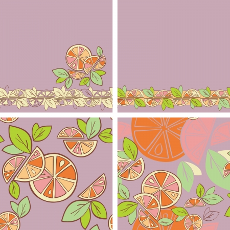 orange citrus bright Seamless pattern background Stock Vector - 14607143