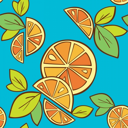 orange citrus bright Vector Seamless pattern background Stock Vector - 14607121