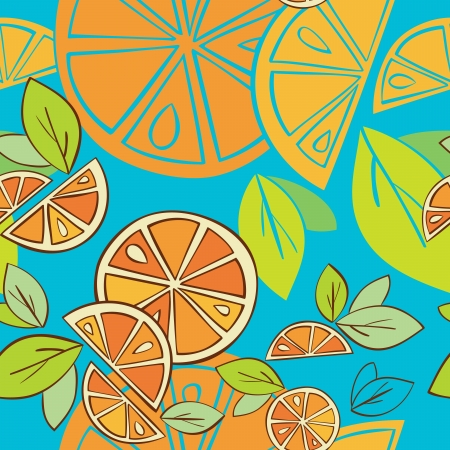 orange citrus bright Seamless pattern background Stock Vector - 14607123