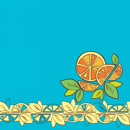 orange citrus bright Vector Seamless pattern background Vector
