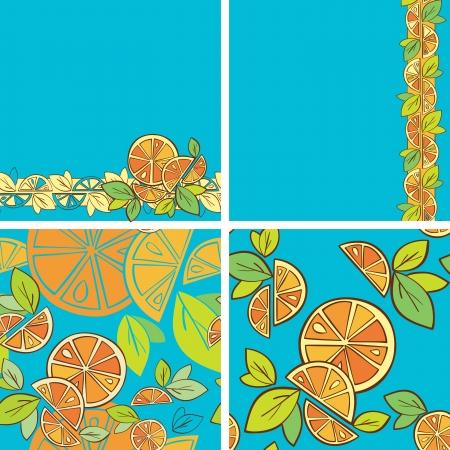 orange citrus bright Seamless pattern background Stock Vector - 14607148