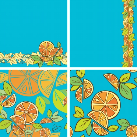 orange citrus bright Seamless pattern background Stock Vector - 14607148