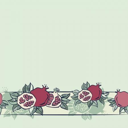 pomegranate seamless pattern background Vector